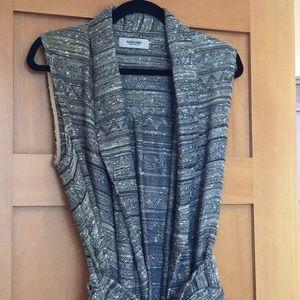 Rachel Comey Tweed Belted Sleeveless Vest Sz 4